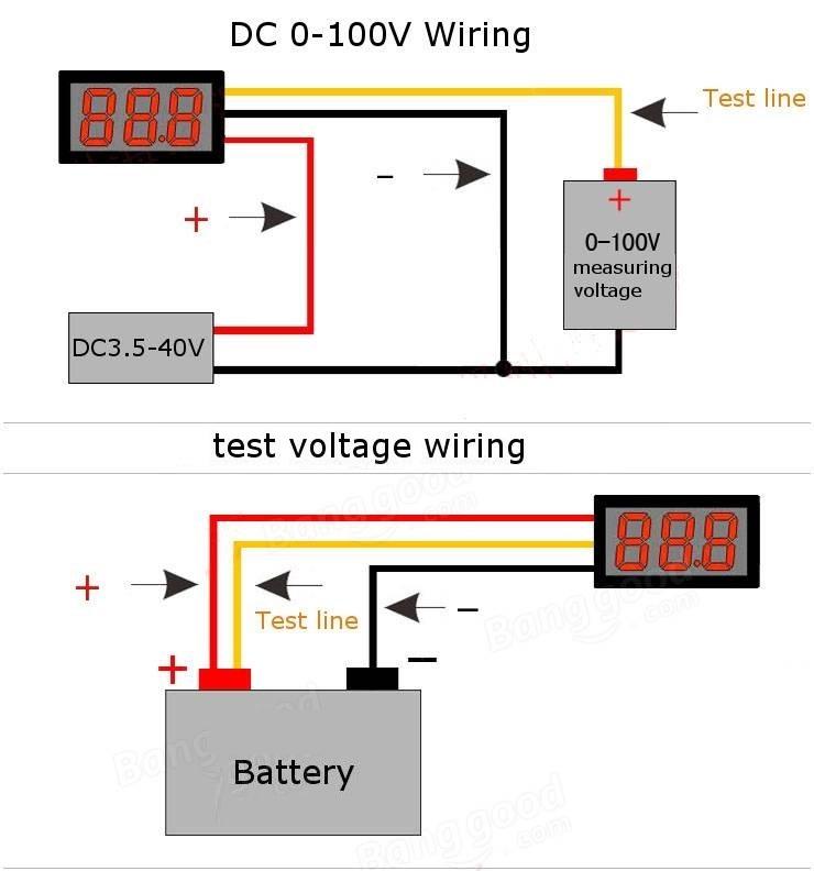 VM-0-100V DC Ψηφιακό βολτόμετρο 0-100V DC 2