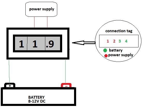 FC4-0-500V AC Ψηφιακό βολτόμετρο 0-500V AC 2