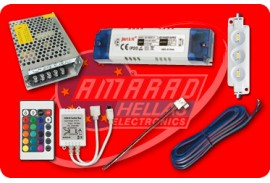 (5) POWER SUPPLIES - ACCESSORIES FOR LED STRIPS (POWER SUPPLIES - LED MODULES - CONTROLLERS - DIMMERS - ADAPTORS - CABLES)