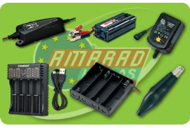 (6) BATTERY CHARGERS - BATTERY CASES - CHARGING CABLES TERMINALS