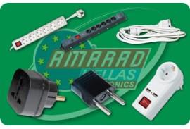 (10) ELECTRICAL EQUIPMENT (SOCKETS - EXTENSIONS - CABLES - ADAPTORS