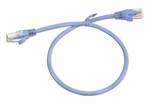 UTP cat6e 0,5m Blue